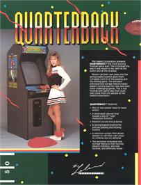 Advert for Quarterback on the Arcade.