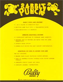 Advert for Rabbit Punch on the Arcade.