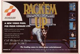 Advert for Rack 'em Up on the Arcade.