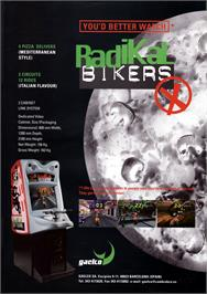 Advert for Radikal Bikers on the Arcade.