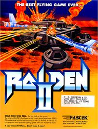 Advert for Raiden II on the Arcade.