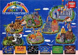 Advert for Rainbow Islands on the Commodore Amiga.