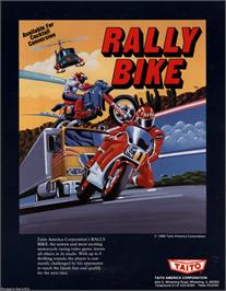 Advert for Rally Bike / Dash Yarou on the Arcade.