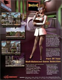 Advert for Rampage: World Tour on the Arcade.