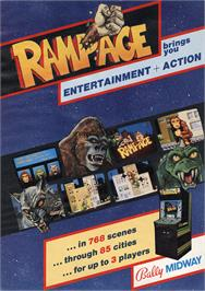 Advert for Rampage on the Arcade.