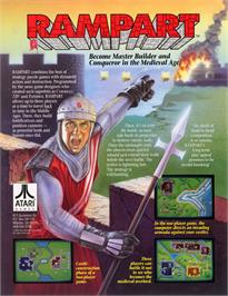 Advert for Rampart on the Nintendo SNES.
