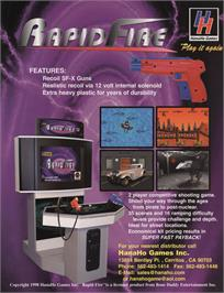 Advert for Rapid Fire v1.1 on the Arcade.