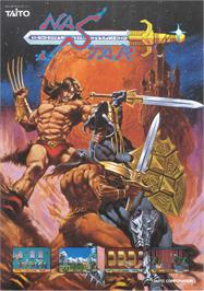 Advert for Rastan Saga 2 on the Arcade.