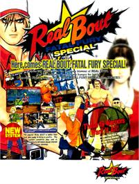 Advert for Real Bout Fatal Fury / Real Bout Garou Densetsu on the Arcade.