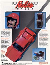 Advert for Redline Racer on the Arcade.