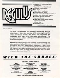 Advert for Regulus on the Arcade.