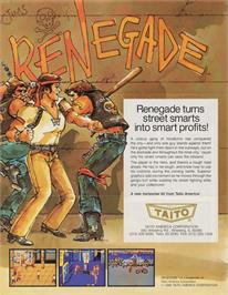 Advert for Renegade on the Arcade.