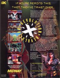 Advert for Revolution X on the Sony Playstation.