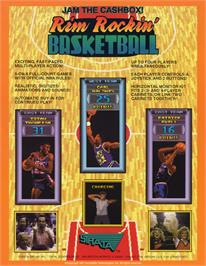 Advert for Rim Rockin' Basketball on the Arcade.