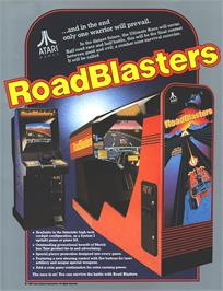 Advert for Road Blasters on the Arcade.