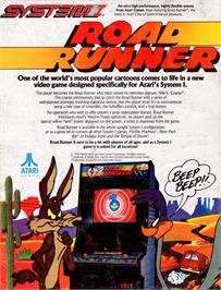 Advert for Road Runner on the Atari 2600.
