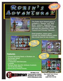 Advert for Robin's Adventure 2 on the Arcade.