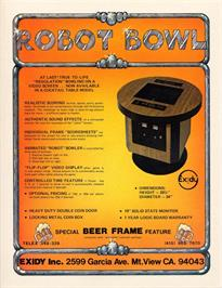 Advert for Robot Bowl on the Arcade.