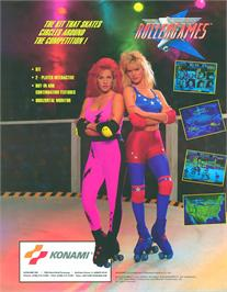 Advert for Rollergames on the Arcade.