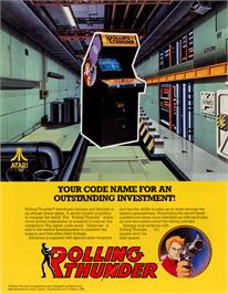 Advert for Rolling Thunder on the Amstrad CPC.