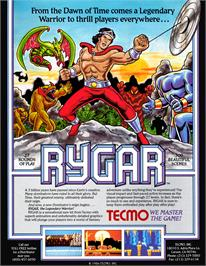 Advert for Rygar on the Nintendo Arcade Systems.