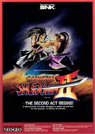 Advert for Samurai Shodown II / Shin Samurai Spirits - Haohmaru jigokuhen on the Arcade.