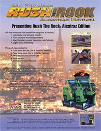 Advert for San Francisco Rush: The Rock on the Arcade.