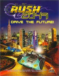 Advert for San Francisco Rush 2049: Tournament Edition on the Arcade.