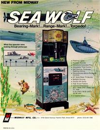 Advert for Sea Wolf on the Commodore 64.