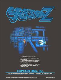 Advert for Section Z on the Arcade.