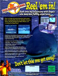 Advert for Sega Marine Fishing on the Arcade.