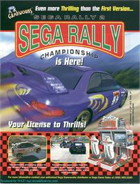 Advert for Sega Rally 2 on the Sega Model 3.