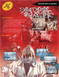 Advert for Shadow Dancer on the Commodore Amiga.