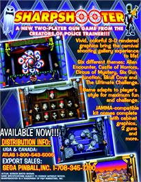 Advert for Sharpshooter on the Arcade.