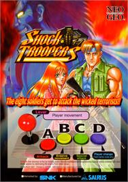 Advert for Shock Troopers on the SNK Neo-Geo AES.