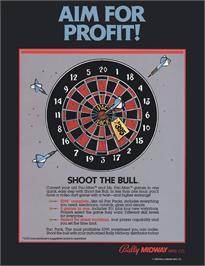 Advert for Shoot the Bull on the Arcade.