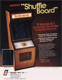 Advert for Shuffleboard on the Arcade.