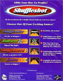 Advert for Shuffleshot on the Arcade.