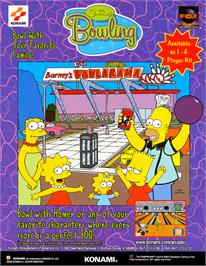 Advert for Simpsons Bowling on the Arcade.