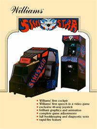Advert for Sinistar on the Arcade.