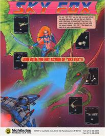 Advert for Sky Fox on the Amstrad CPC.