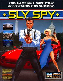 Advert for Sly Spy on the Arcade.