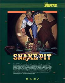 Advert for Snake Pit on the Arcade.