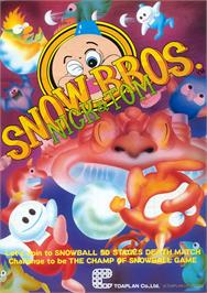 Advert for Snow Bros. - Nick & Tom on the Arcade.
