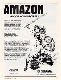 Advert for Soldier Girl Amazon on the Arcade.