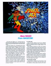 Advert for Space Ace on the Atari Jaguar CD.