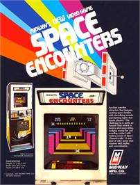 Advert for Space Encounters on the Arcade.