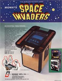 Advert for Space Invaders / Space Invaders M on the Arcade.