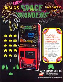Advert for Space Invaders Deluxe on the Arcade.