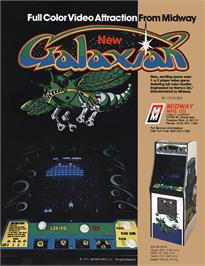 Advert for Space Invaders Galactica on the Arcade.
